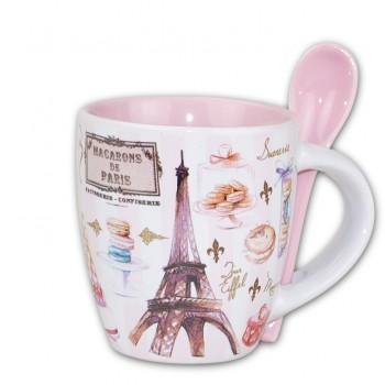 Mug avec cuiller 46 souvenirs paris