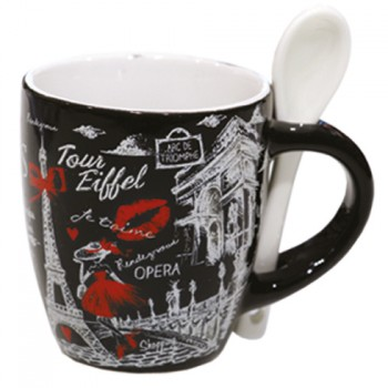 Mug avec cuiller 61 souvenirs paris