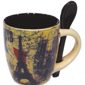 Mug avec cuiller 57 souvenirs paris