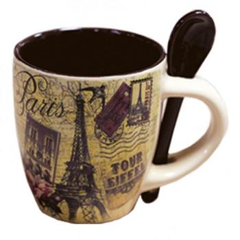Mug avec cuiller 56 souvenirs paris