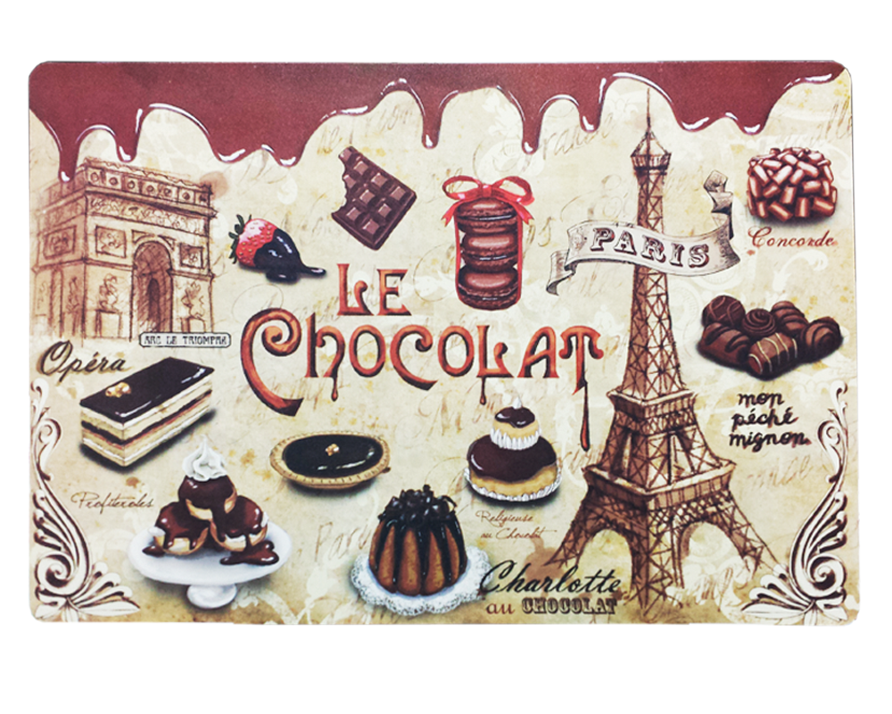 Set de table chocolat paris glam for Set de table paris