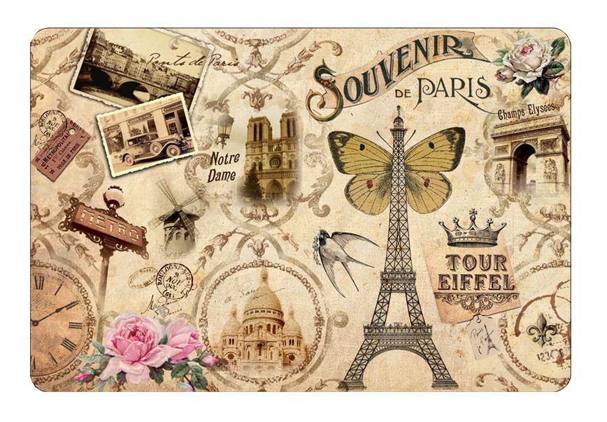 Set de table 29 souvenirs paris paris glam for Set de table paris